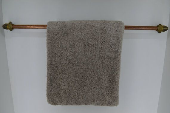 Towel rail / rack made from beautiful copper and by WhoTheDickens