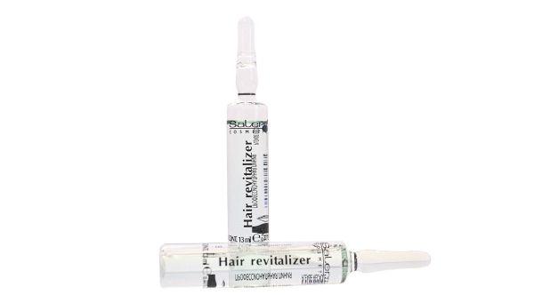 Šoková terapie – Salerm Hair Revitalizer. Šoková terapie urychluje normalizaci vlasové pokožky a vlasové cibulky. Léčba je vhodná jako rychlé ošetření v případě vlasů trpící nedostatkem výživy a postrádajících vitalitu. Složení bylo vylepšeno přidáním aktivního povzbuzujícího výtažku Serenoa Serulata, přirozený pružný vlas je tak posilován účinně vlasovým keratinem.