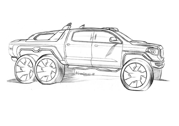 Toyota Tundra Drawing