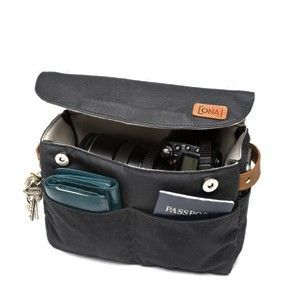 Camera insert so you can tote your camera and a lens around in your purse without carrying a separate bag