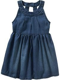 Sleeveless Denim Dresses for Baby