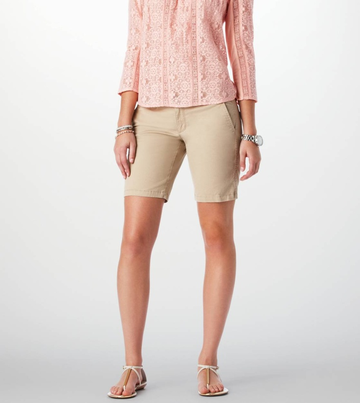 Womens Khaki Bermuda Shorts - The Else