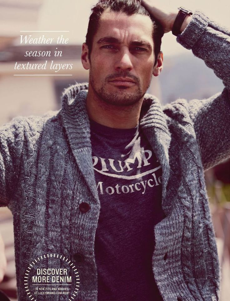 David Gandy Adopts This Season's Casual Styles for Lucky Brand Fall/Winter 2012