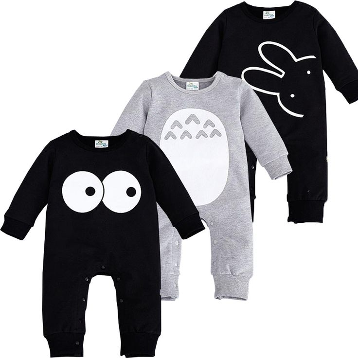 2017 Fashion Cute Animal Romper Cartoon Big Eyes Unisex Baby Clothes Rabbit Newborn Baby Jumpsuit Ropa Bebe Recien Nacido