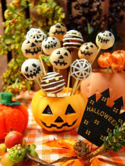 鈴カステラdeお手軽♪シナモン香る☆ハロウィンロリポップ Halloween lollipop mini cakes smelling