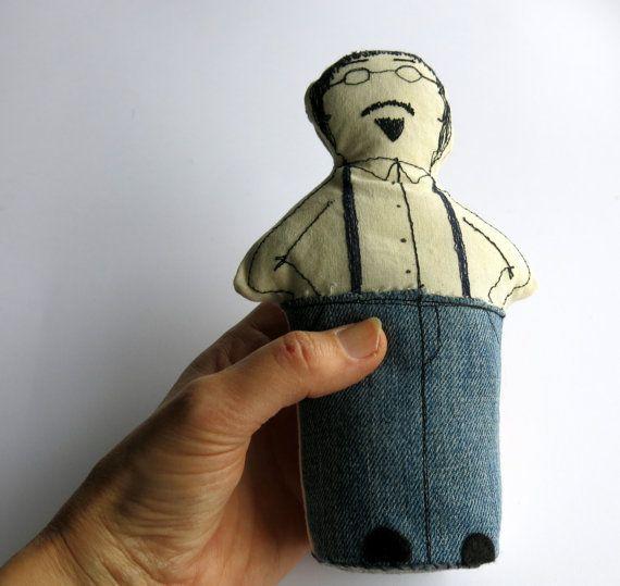 man doll softie doll plush doll cloth art doll by itsaMessyNest