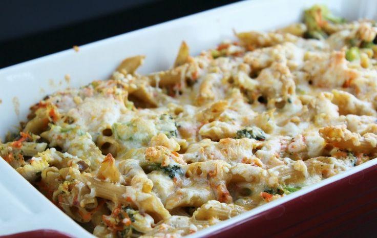 Creamy Chicken and Mushroom Pasta Bake - Unislim