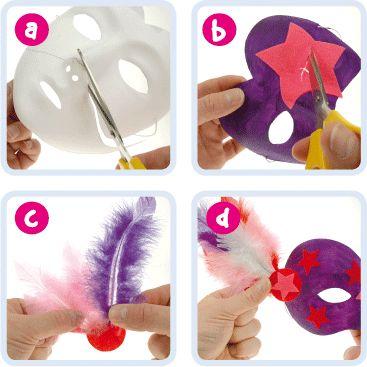 Carnival Mask | Craft Ideas at Patticrafts