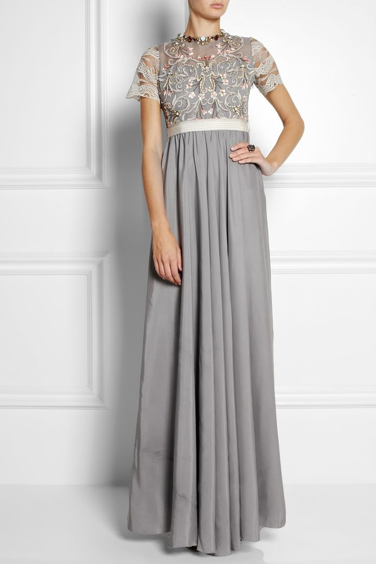 Biyan | Isobel embellished tulle and satin gown | NET-A-PORTER.COM