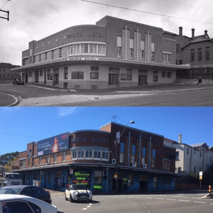 The Bridge Hotel, corner of Victoria Road and Wellington Street, Rozelle c1930 > 2017. [State Library of NSW > Phil Harvey. By Phil Harvey]