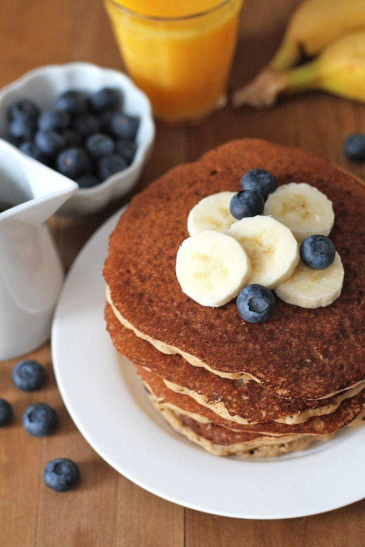 Easy-to-make, ultimate fluffy vegan banana pancakes that will become a new favourite family breakfast or brunch item. Instructions on how to make them gluten-free are also included! #veganpancakes #veganglutenfreepancakes #veganbreakfast #veganglutenfree via @delighfuladv