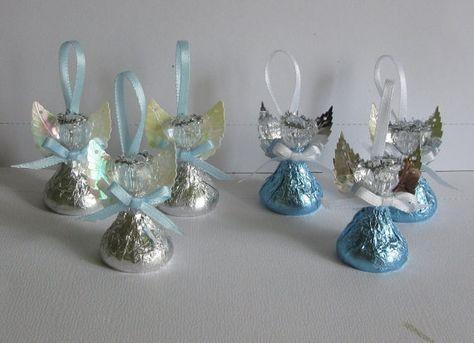 Partido de chocolate dulces Ángeles - Set de 60 - ducha Favor, Favor de bautismo, bautizo Favor, Favor