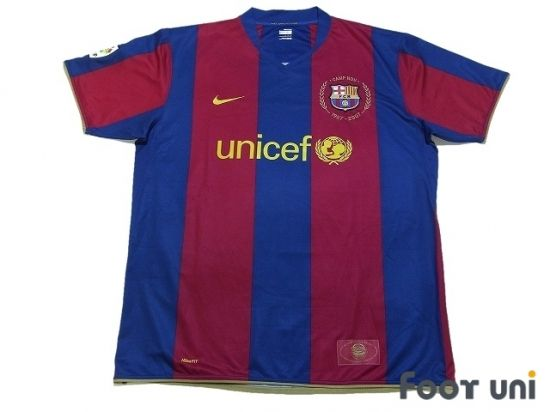 Barcelona 2007-2008 Home Barcelona 2007-2008 Home Shirt LFP Patch/Badge NIKE unicef - Football Shirts,Soccer Jerseys,Vintage Classic Retro - Online Store From Footuni Japan
