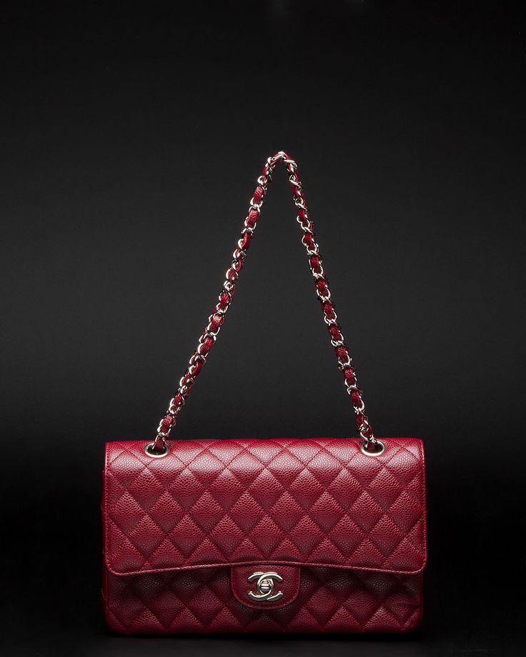 Daddy, buy me this?!?! Chanel Red Caviar M/L 2.55 Classic Double Flap Bag...love it!