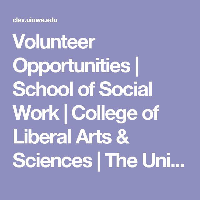 Volunteer Opportunities | School of Social Work | College of Liberal Arts & Sciences | The University of Iowa