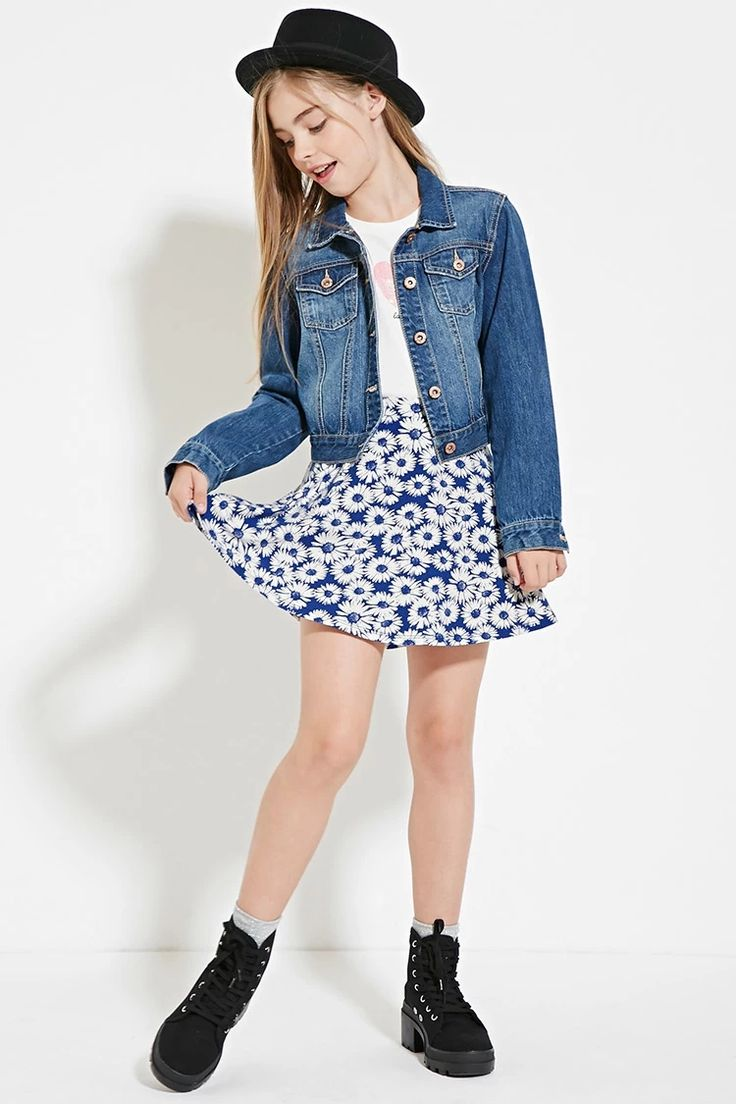 Girls Floral Print Skirt (Kids) #f21kids