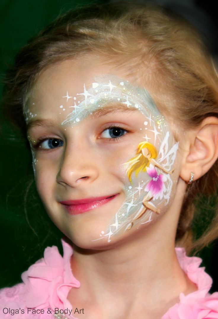 I really love her work! Awesome artist... Fairy #facepaint by Olga Meleca