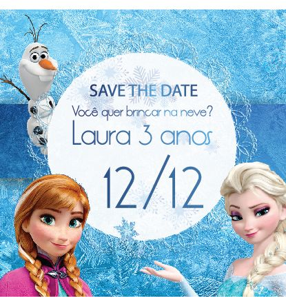 Save the Date Frozen | The conviteria | Pinterest | Save ...