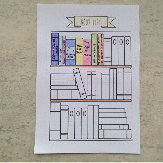Bullet Journal – Bibliothèque – Livres – Lecture – Imprimable – Modèle – A5 – A4 – Lettre US   – Projects