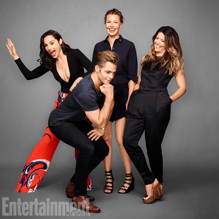 Gal Gadot, Chris Pine, Connie Nielsen and Patty Jenkins for Photo Session within the framework of the festival «Comic-Con» 2016 for the publication of  «Entertainment Weekly»
