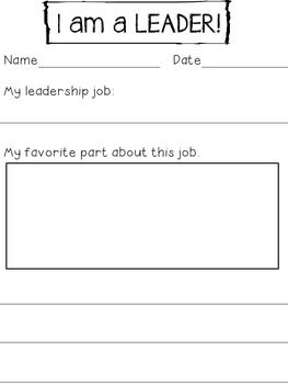 In a Leader in Me school very job is important in the classroom. Have your students reflect on their classroom leadership jobs with this organizer. It makes them feel like a leader and take even more ownership of thier leadership in the classroom. I kept my students reflection in thier leadership notebook.