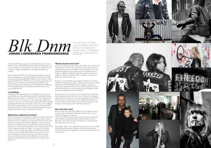 CASE: Write and design a two spread article about a designer. Spread 1.