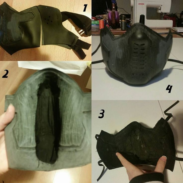 Here's how I went about sorting out buckys mask. I bought a Winter soldier mask off of eBay I knew it wouldn't fit cause it was made for a man but the closures were utter crap too. So I cant recommend them to you guys in good faith the mask itself was good. 1st thing I did when it arrived was hold the mask against my face. I couldn't try it on cause it was made for a manly man with a really wide jaw. I then marked where I was going to cut it with pen and then cut. 2nd step was to cover the…