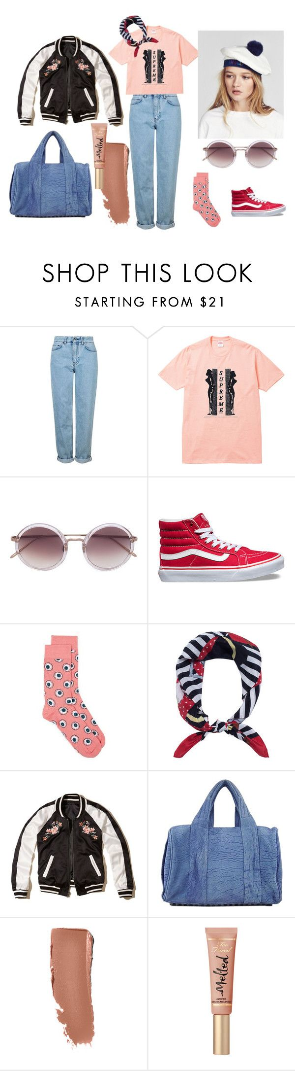 """#untitled2"" by yuna92 on Polyvore featuring Topshop, Linda Farrow, Vans, Love Moschino, Hollister Co. and Alexander Wang"