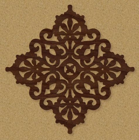 Western Scroll Saw Patterns | Victorian Trivet Pattern