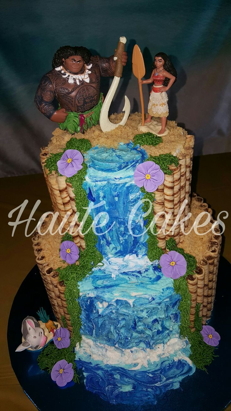 Moana Cake Sprinkl D Cakes Moana Birthday Decorations