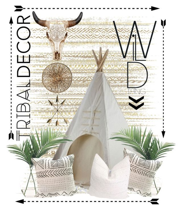 Tribal Decor | Wild Thing by bosko on Polyvore featuring polyvore, interior, interiors, interior design, home, home decor, interior decorating, Élitis, NDI, Palecek and tribaldecor