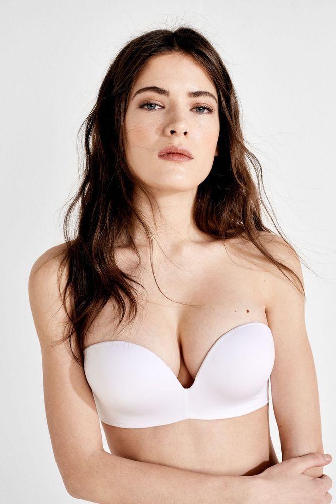 72f0ba2533bf0 Women Secret Maxi Push Up Strapless Bra White Size UK 34B DH088 RR 12   fashion