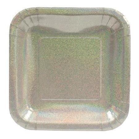 glitter glitz silver 7 inch square paper plates 495 per package