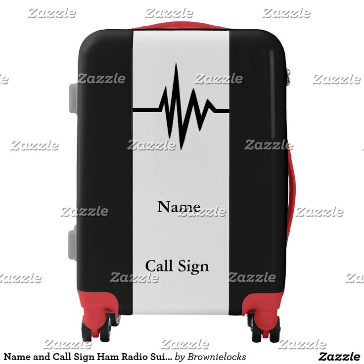 Name and Call Sign Ham Radio Suitcase Luggage