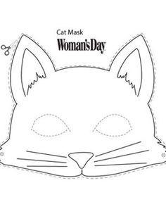 выкройка для маски кота