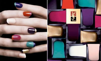 Love, love, love the YSL colorblock nails! Want to do this!
