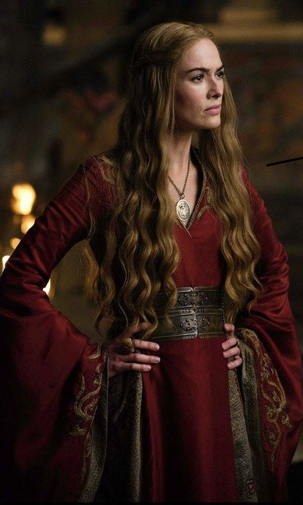 Cersei Lannister burgundy dress