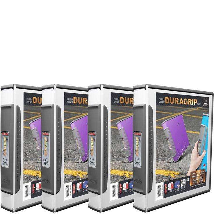 DuraGrip View Binder, 4 pack