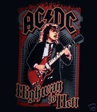 AC/DC cd lgo ANGUS YOUNG TO HELL Official SHIRT LAST SMALL OOP highway to hell