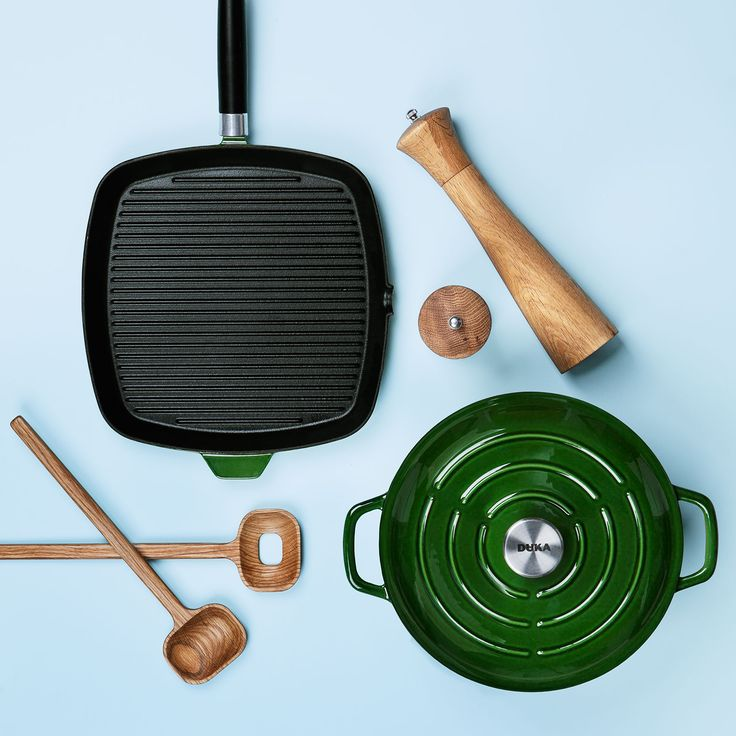 Bistro - Duka Kitchen Life range of black and green cast iron pots