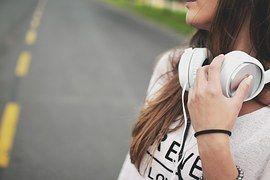 Girl, Music, Headphones, Hipster, Scene