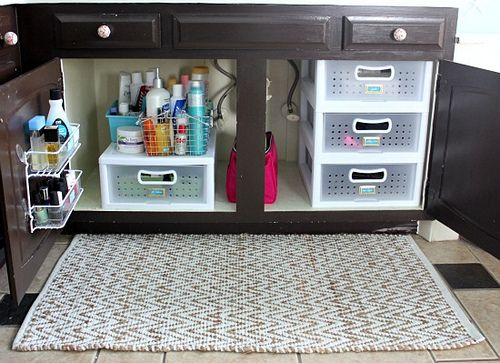 Hi Sugarplum | Organized Bathroom Cabinets | Flickr - Photo Sharing!