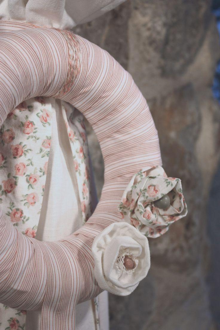Συλλογή Βάπτισης Ρομαντικά Λουλουδάκια #Λαμπάδα #Baptism #Christening Candle #Lambada #Baptism Lambatha  #Greek Orthodox Baptism/Christening #Linen Candle #Linen Fabric Flowers #Romantic Fabric Flowers Baptism Set