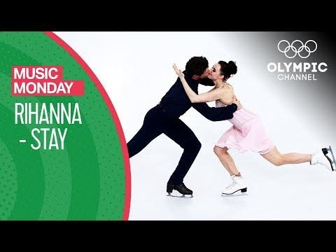 Tessa Virtue and Scott Moir skate to Stay by Rihanna | Music Monday - YouTube