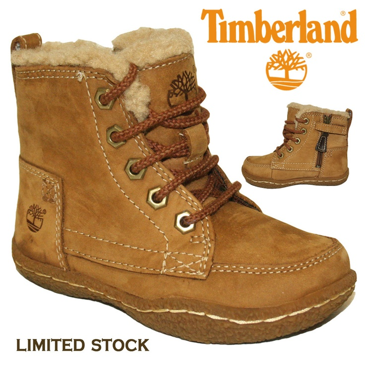 BOYS TODDLERS UNISEX GIRLS TIMBERLAND BOOT FUR LINED LEATHER DESIGNER KIDS
