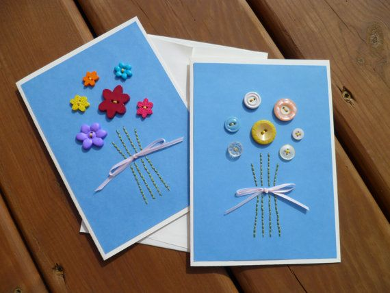 Button Bouquet Greeting Card by TheTroveShoppe on Etsy