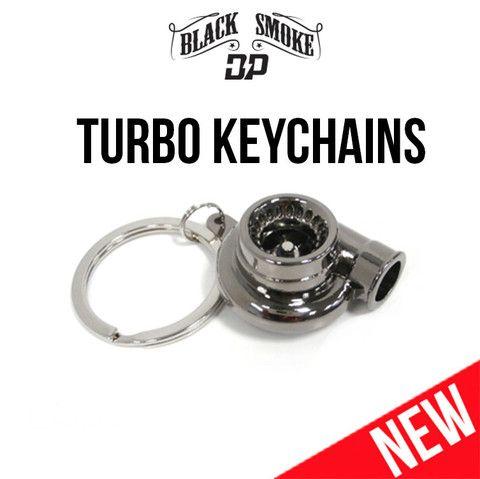 Diesel Truck Turbo Keychains Chrome