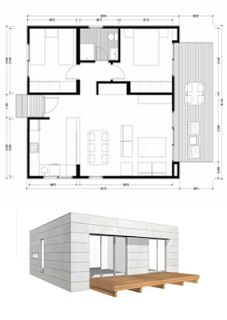 planos casas de madera plano m modelo a