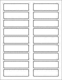 "OnlineLabels.com item OL157- 3.4375"" x 0.9375"" Blank Label Template for #Word #PDF & More."