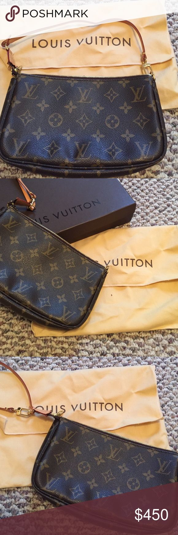 Like New Louis Vuitton Small Clutch Purse!! Like New small Louis Vuitton bag- only used a couple of times! Bought at the LV store in Las Vegas. Louis Vuitton Bags Clutches & Wristlets